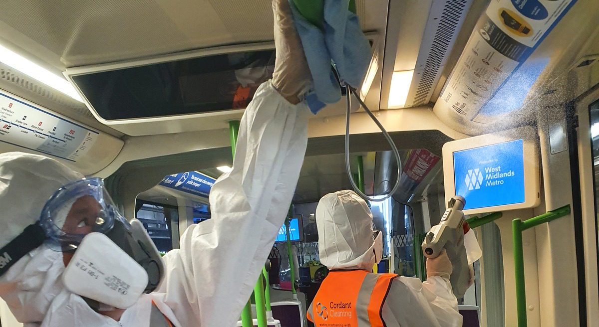 West Midlands Metro launches new COVID-19 cleaning process